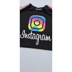 Tricou scurt Instagram, Negru