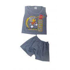 Set de vara Gri  Maiou/Pantalon scurt