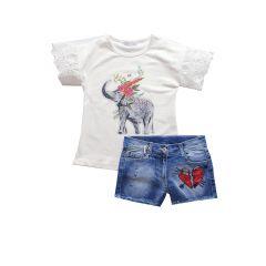 Tricou Elefant si Jeans paiete