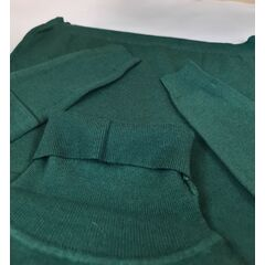 Helanca fete, tip pulover moale, verde persan
