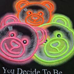 Bluza tip hanorac, Bear multi-neon