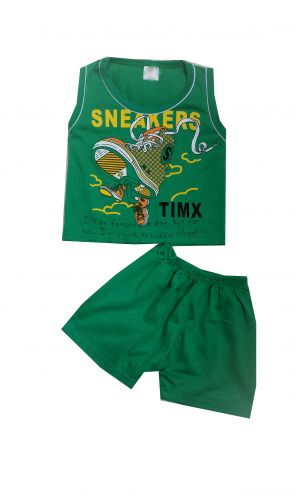 Set de vara verde Maiou/Pantalon scurt