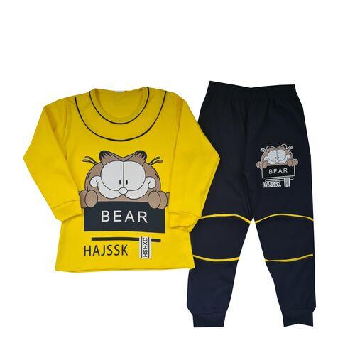 Pijama Garfield , galben/ bleumarin